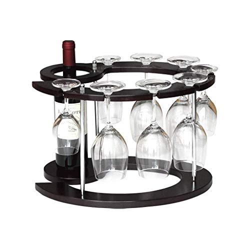 Weinregal Weinflaschenhalter H/ängeregal f/ür Wein Glashalter Regal Bar Set schwarz K/üchenregal Glasregal