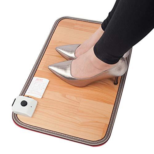 CenYC Beheizter Fußwärmer, elektrisches Fußbodenheizkissen, Holzstreifen-Heizkissen aus Kohlenstoffkristall für das Büro unter dem Schreibtisch