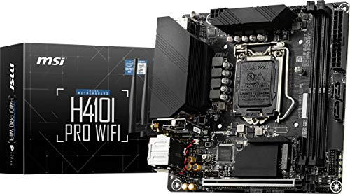 MSI H410I PRO WiFi ProSeries Motherboard (Mini-ITX, 10th Gen Intel Core, LGA 1200 Socket, DDR4, M.2...