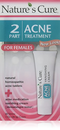Nature's Cure 2 Part Acne Treatment for Females 60 tablets 1 oz Cream (Pack of 2)