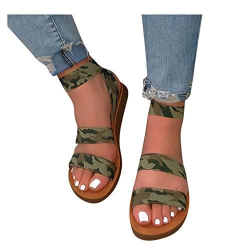 Hemlock Women Lace Up Sandals Gladiators Open Toe Flats Slip On Sandals Shoes Summer Sandals Beach Shoes Slippers Green
