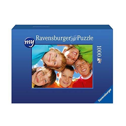 Ravensburger Fotopuzzle 49 bis 2000 Teile Puzzle zum Selbstgestalten - personalisierte Fotogeschenke für Kinder und Erwachsene (1000 Teile in Blauer Pappschachtel - Querformat)