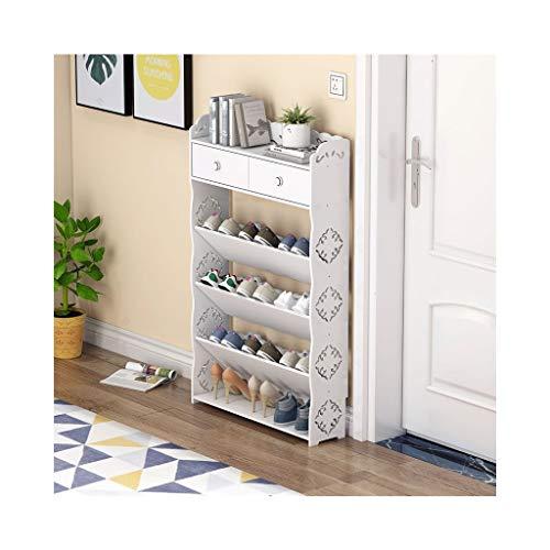 XWZH Gabinete de Zapatos a Prueba de Polvo Montaje de Almacenamiento de Zapatos Ultra Delgada Montaje de Almacenamiento Multicapa a Prueba de Polvo Simple