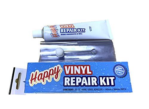Happy Hot Tubs WET or DRY Swimming Pool Liner Vinyl Repair Kit Inflatable...