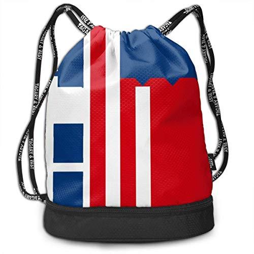 zhangyuB American Flag Letter Dilly Bolsa con cordón Traveling School Shoulder Backpack Large Capacity Beam Bag, Home Travel Storage Use Gift For Men & Women, Girls Boys