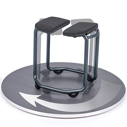 SALJOL Duschhocker Duschstuhl Badhocker SPA 360° drehbar, mit großem Hygieneausschnitt für Intimpflege, 46cm Sitzhöhe