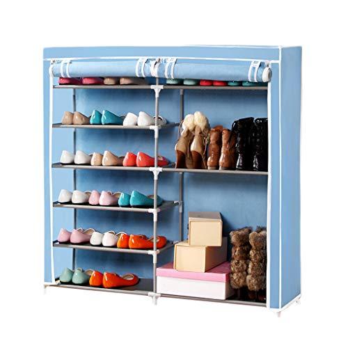 ZZTWER Shoe Rack Estante para Zapatos, gabinete Simple de múltiples Capas del gabinete del Zapato del Metal de múltiples Capas Estante casero a Prueba de Polvo de los Zapatos del Estante