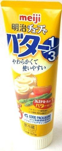 meiji 明治チューブでバター1/3 160g 3本×48セット 要冷蔵