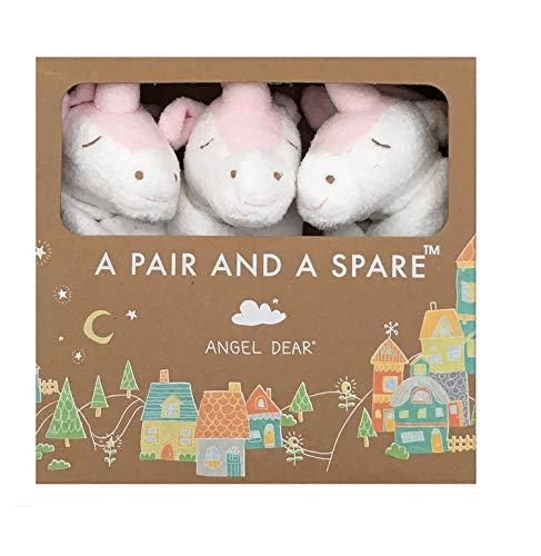 Angel Dear a Pair and a Spare 3 Pcs Blankets Gift Box, White Unicorn