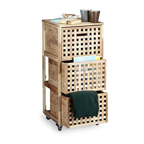 Relaxdays -   Rollcontainer Holz