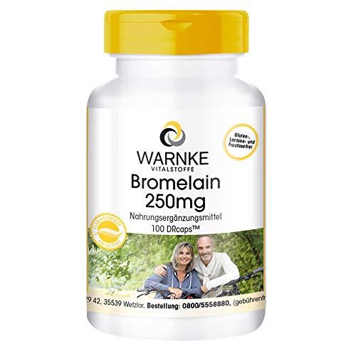 Bromelain Kapseln - 250mg Bromelain pro Kapsel - 600 F.I.P - natürliches Ananasenzym - vegan & hochdosiert - 100 Kapseln