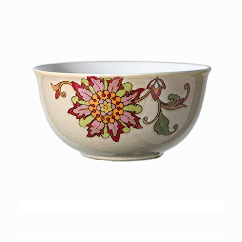 Keramik-Schüssel, handbemalt, Sonnenblumen-Muster, Steak-Teller, Obst-Salat-Tablett, Geschirr, Lebensmittel-Utensilien, 19,5 x 9,5 cm