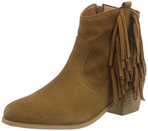 Buffalo London Damen ES 30719 Suede Cowboy Stiefel, Braun (BEIGE 01), 36 EU