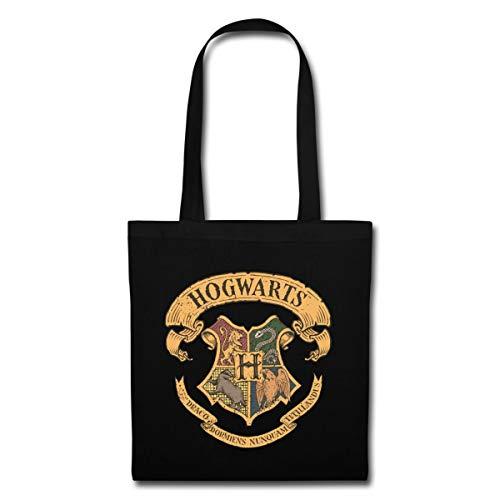 Harry Potter Hogwarts Wappen Stoffbeutel, Schwarz