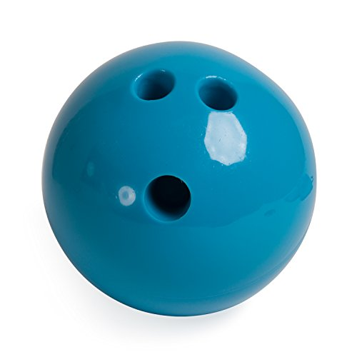Champion Sports Plastic Bowling Ball: Rubberized Soft Ball for Training & Kids Games