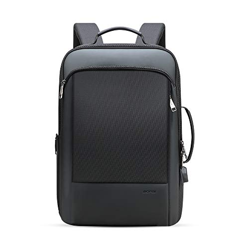 BOPAI Travel Backpack for Men Business Laptop Backpack 15.6 inch Smart Rucksack Anti Theft Backpack Large Capacity Multi-Function Backpack Office Black