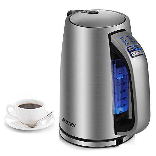 BESTEK Stainless Steel Electric Kettle with Temperature Control,...