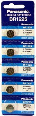 Panasonic Knopfzelle Lithium BR1225 PA 48 mAh, 3V Rechner Lithium-Knopfzelle Lithium 3V/48mAh in StreifenBlister