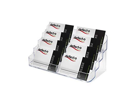 Deflecto Visitenkartenhalter für den Schreibtisch 8 Fächer transparent