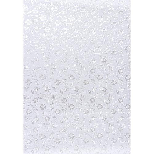 Premium-Transparentpapiere, Nova Noblesse mit Top-Prägung & Perlmuttlack, DIN A4, 5 Bogen (weiß, Design 09)