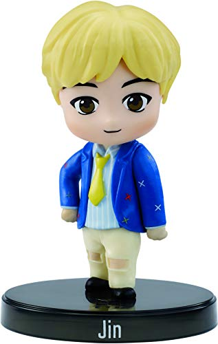 BTS x Mattel Mini-Figurine Vinyl Jin, à l'Effigie du Membre du Groupe de K-pop, Figurine Miniature à Collectionner, GKH76