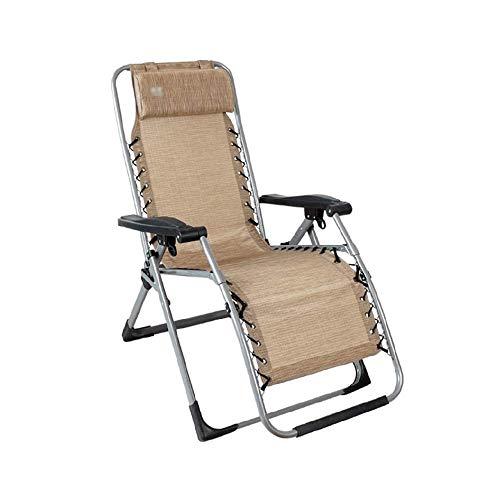 WSDSX Silla reclinable Plegable Sillón reclinable Plegable, Sillón reclinable Plegable de Gravedad Cero con reposabrazos para Acampar al Aire Libre, Pesca, jardín, Playa, Sol, Silla reclinable LUN