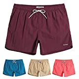 MaaMgic Mens 5' Solid Short Swim Trunks with Mesh Lining Quick Dry Bathing Suits Swimming Shorts Swimsuit