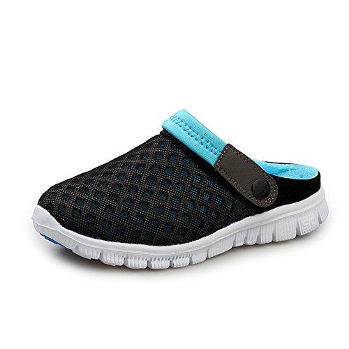 NoBrand Avani-MEROVIN Femmes et Hommes Mules Talon Plat Slip on Outdoor Chaussures d'été Pantoufles Hommes Respirant Mules Anti-dérapantes Hommes Chaussures de Jardin Casual Plage Sandales