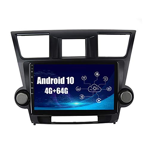 SYGAV Android 10 Car Radio for 2008 2009 2010 2011 2012 Toyota Highlander Stereo with Carplay Android Auto10.2 Inch Touch Screen GPS Navigation Head Unit Connecticut