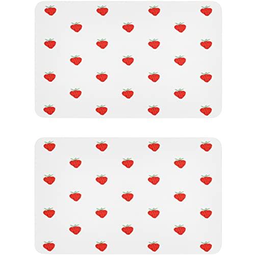 Vnurnrn Imán para lavavajillas de frutas de verano con fresa y placa magnética, placa decorativa para cocina, oficina, lavavajillas, indicador de lavadora de platos, 2 unidades