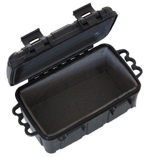 Inet-Trades GmbH Kunstoff-Box spritzdicht 16,5x12x7,5 cm schwarz - für Outdoor/Camping/Bootsport/Survival - original