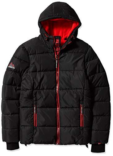 Superdry Men's Sports Puffer Jacket, Jet Black, XXX-Large