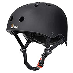 Image of JBM Skateboard Helmet CPSC ASTM Certified Impact Resistance Ventilation for Multi-Sports Cycling Skateboarding Scooter Roller Skate Inline Skating Rollerblading Longboard: Bestviewsreviews