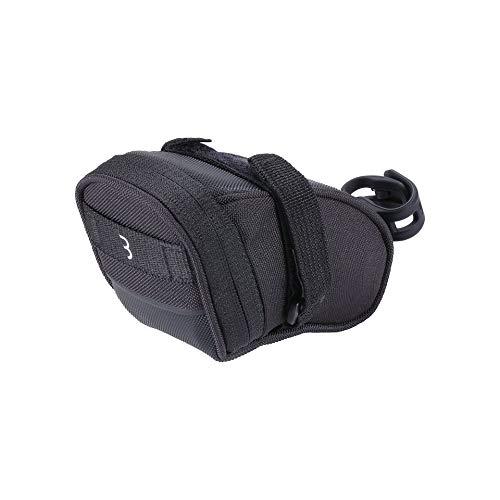 BBB CyclingSpeedPack Sgebogene Satteltasche|Wasserdichter Reißverschluss|LED-Rücklicht Montagehalterung|Reflektierendes schwarzes Grafik