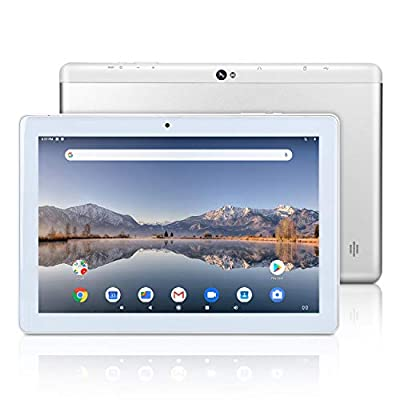 Huashetrade 10 inch Android Google Tablet, Android 9.0 Pie, GMS Certified, 64GB Storage, Quad-Core Processor, IPS HD Display, Wi-Fi, Bluetooth, GPS