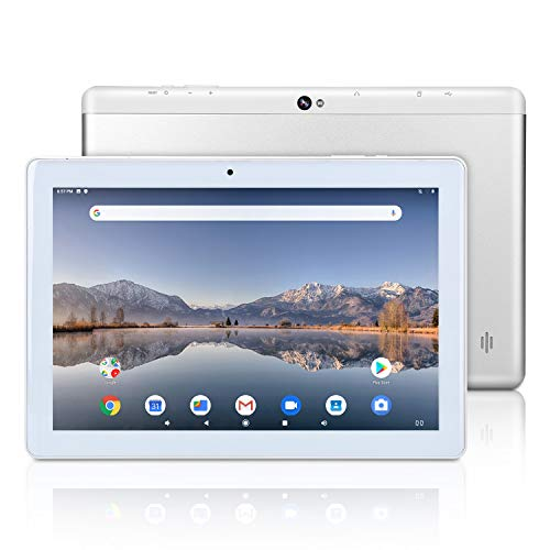 Tablet Android Google da 10 pollici, Android 9.0 Pie, certificato GMS, 4 GB di RAM, 64 GB di spazio di archiviazione, processore quad-core, display IPS HD, Wi-Fi, Bluetooth, GPS