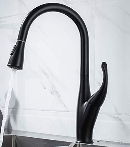 CESULIS Cuerpo de cobre completo pull-out lavabo grifo caliente y frío lavabo lavabo grifo lavado cabeza rotación