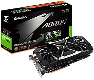 Gigabyte AORUS GeForce GTX 1060 Xtreme Edition 6G (Rev. 2.0) GeForce GTX 1060 6GB GDDR5 - Tarjeta gráfica (NVIDIA, GeForce GTX 1060, 7680 x 4320 Pixeles, 1645 MHz, 1873 MHz, 6 GB)