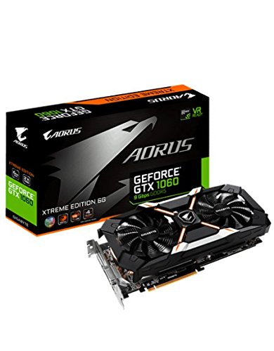 Gigabyte AORUS GeForce GTX 1060 Xtreme Edition 6G (rev. 2.0) GeForce GTX 1060 6GB GDDR5 - graphics cards (NVIDIA, GeForce GTX 1060, 7680 x 4320 pixels, 1645 MHz, 1873 MHz, 6 GB)