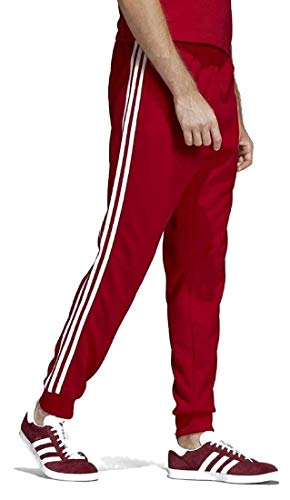 adidas Originals Men's Superstar Trackpants, Power red, Small