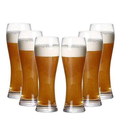 XMYNB Jarra 6 Paquete De Tazas De Cerveza De Cristal Sin Plomo, Tazas De Jugo Soplado Artificialmente