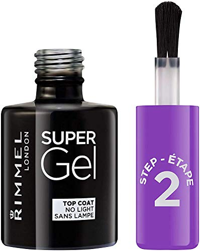 Rimmel London Super Gel von Kate Moss Nagellack Duo Pack, Schatten 12, Soul Session, nude