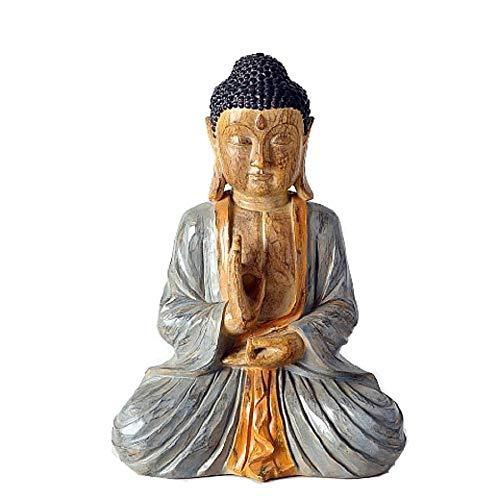 Unbekannt Figura Decorativa de Buda Alto 50 cm de Resina Marrón