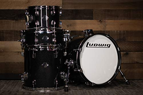 Ludwig Breakbeats by Questlove 4-Piece Drum Shell Pack (Black Sparkle)