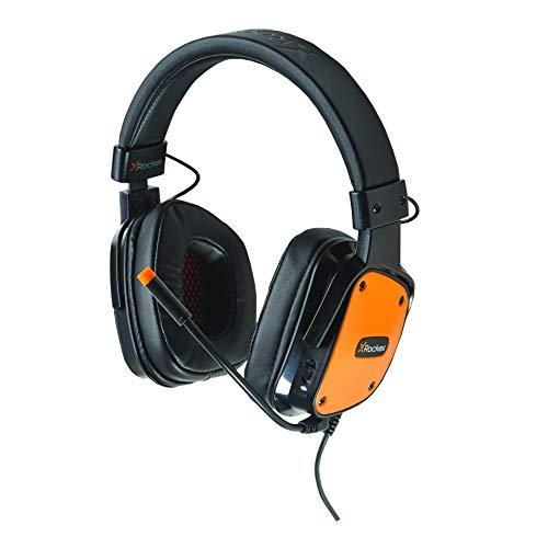 X Rocker, 5188001, XH2 Headset with Microphone, 8.07 x 6.89 x 3.35, Black/Orange