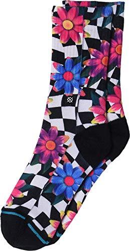 Stance Crazy Daisy - Calcetines para niños, talla S, color negro