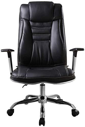 Sessel GSN Ergonomischer Bürostuhl, Waist Boss Stuhl, 145 ° Bequeme Reclining, Hub- und Drehfunktion, hohe Rücken Computer Stuhl/Reduzierte Fatigue (Schwarz)