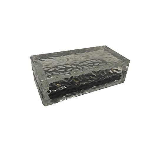 COCNI Kreative Solar Crystal Glass Brick Embedded begrabene Lampe 0,8 W LED Ice Cream Brick Form Landschaft Bodeneinbauleuchte Lawn Park Villa dekorative unterirdische Einbauleuchten