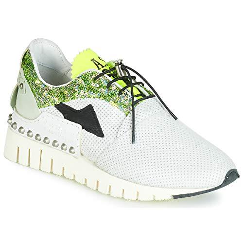 airstep / a.s.98 DENALUX Sneaker Femmes Beige/Türkis/grün/gelb - 40 - Sneaker Low