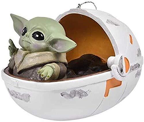 RENFEIYUAN Star Wars: el Juguete para bebé Adorno de decoración navideña Juguetes 3D para niños niñas Bebe Yoda Peluche